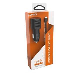 Зарядно за автомобил за iPhone 5 + кабел 12V 3.4A
